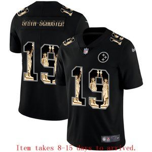 Steelers #19 JuJu Smith-Schuster Jersey Black